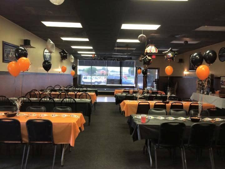 Graduation party setup