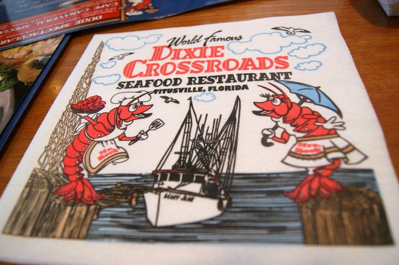 dixie at Dixie Crossroads Seafood Restaurant