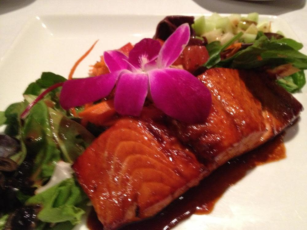 Maple Teriyaki Salmon at Cafe L'Europe