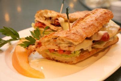 Club Sandwich Panino w/Grilled Chicken at Luciano's Restaurant