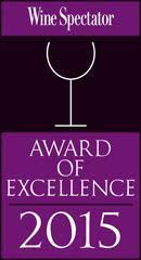 We received a Wine Spectator Award of Excellence for our Wine List for 2015.