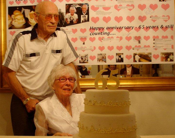 65th Wedding anniversary Peggy and George at Lucky Wishbone