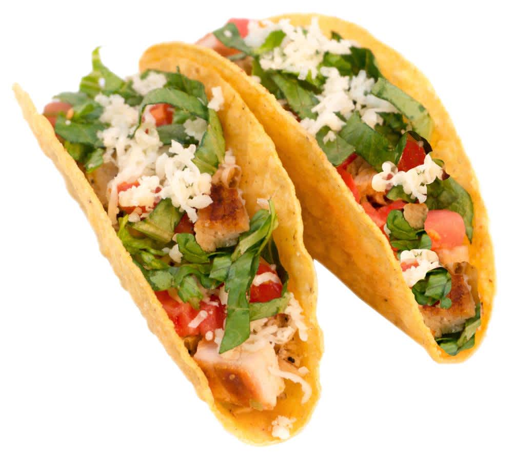 Two Ranchero Tacos with grilled chicken or ground Beef on a crunchy taco shell or soft tortilla. For a little extra, add grilled steak. Available with Veggie and Lil' Ranchero options.