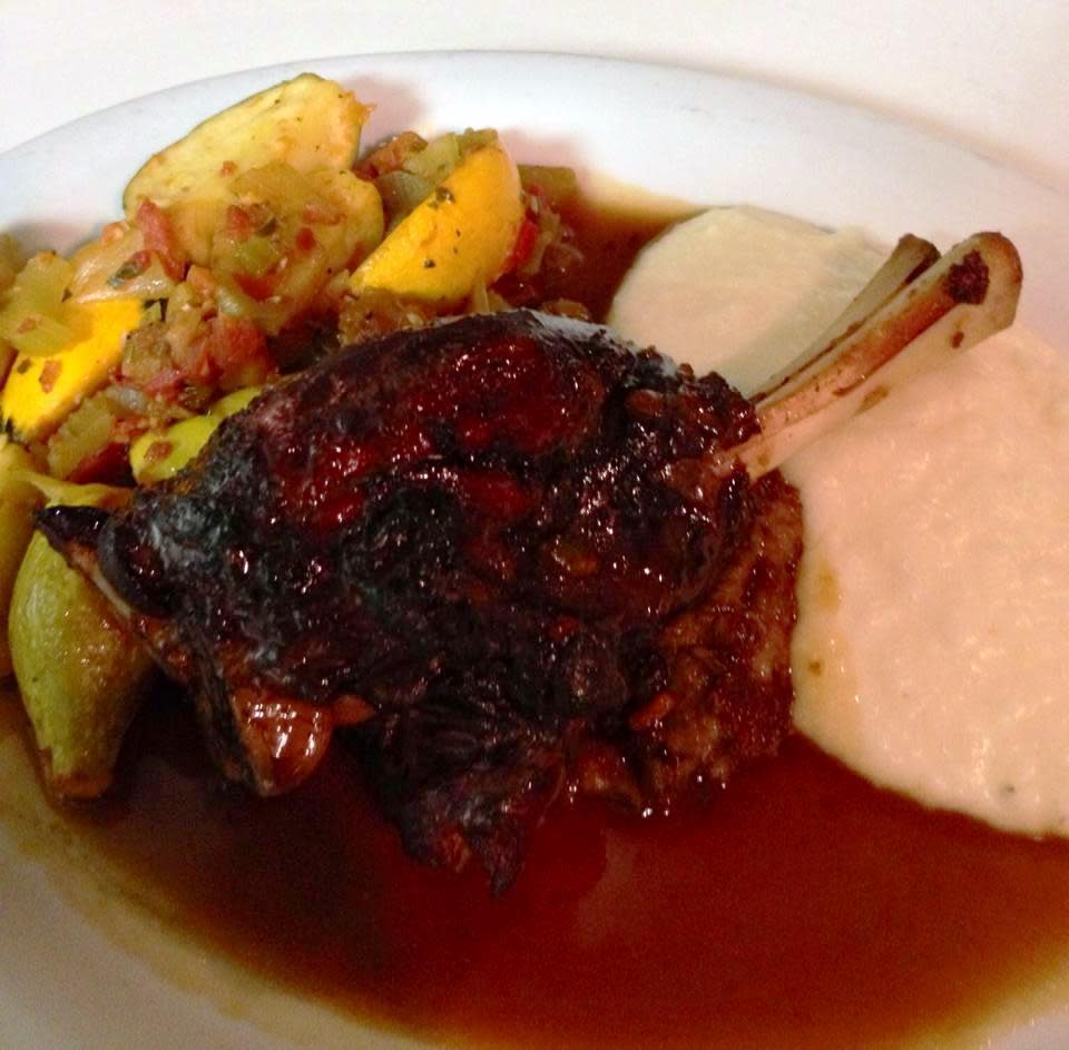 All-natural free-range lamb from Mississippi. at Brigtsen's