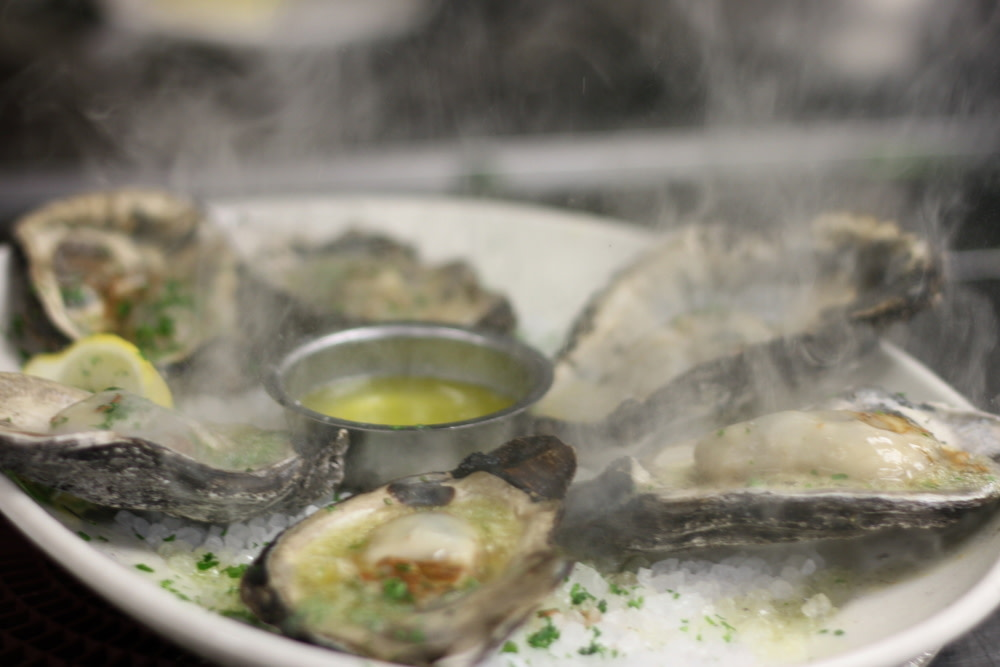 Smoked Sizzling Oysters