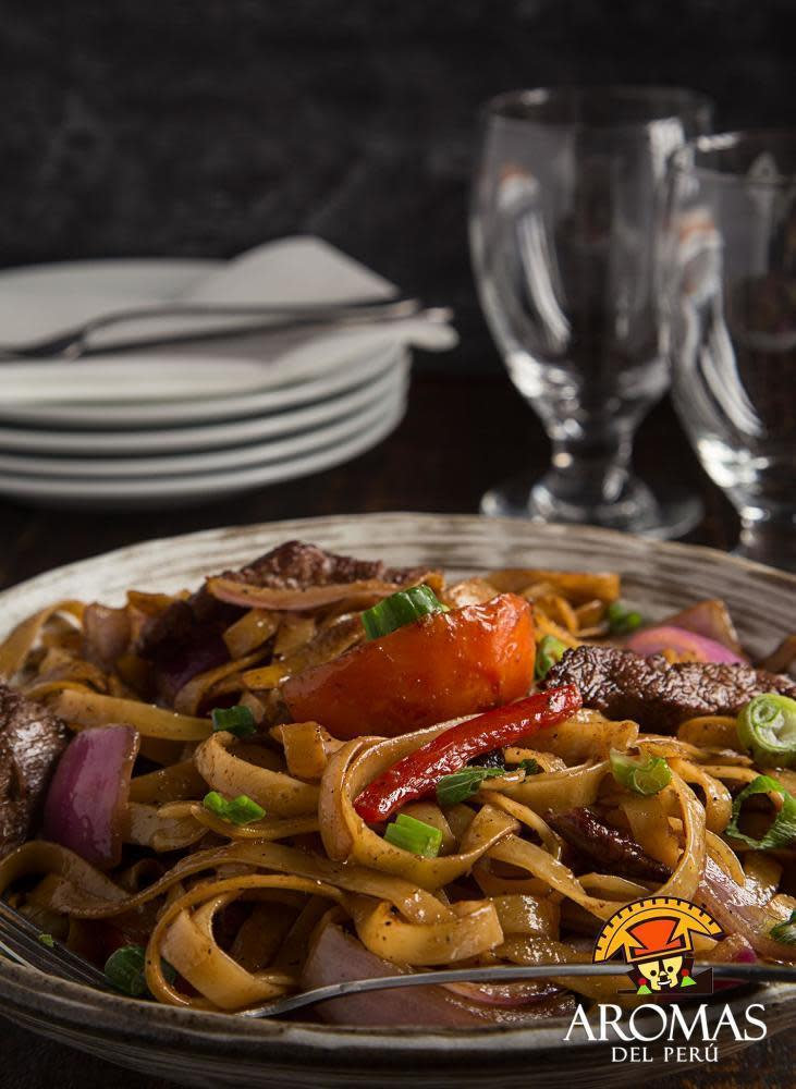 pasta at aromas del peru aromas del peru   order online   menu  u0026 reviews   10201 hammocks      rh   menuism