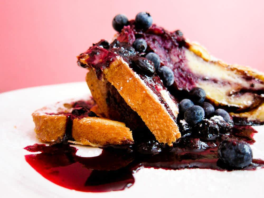Blueberry Stuffed French Toast at Southport Grocery and Cafe