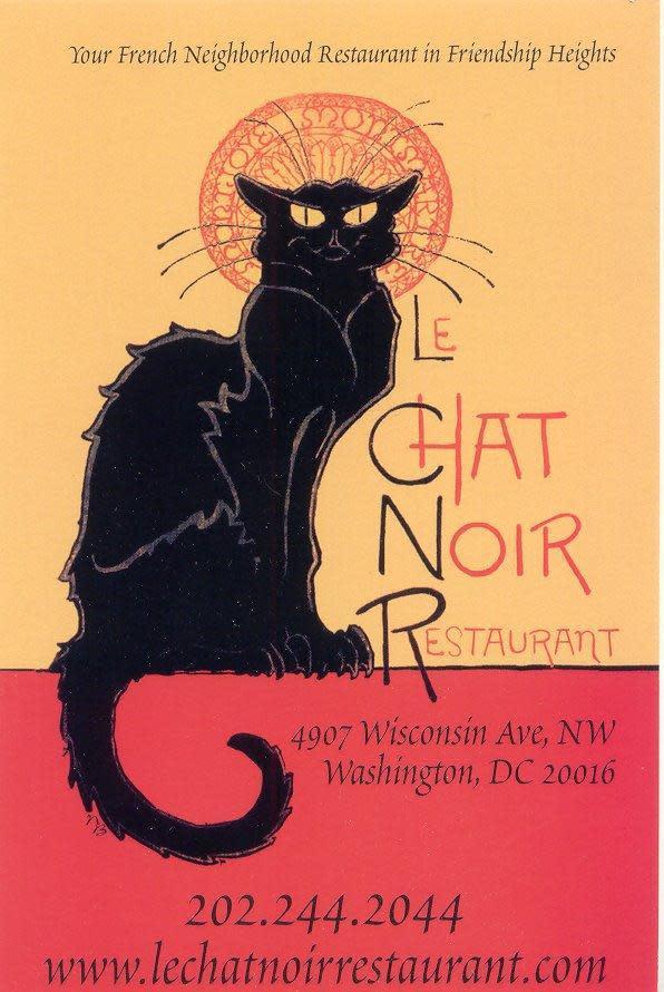 le chat noir menu reviews friendship heights washington 20016. Black Bedroom Furniture Sets. Home Design Ideas