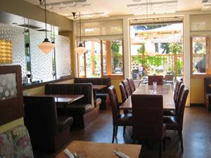 inside dining at The Fountain Bistro & Drive-thru