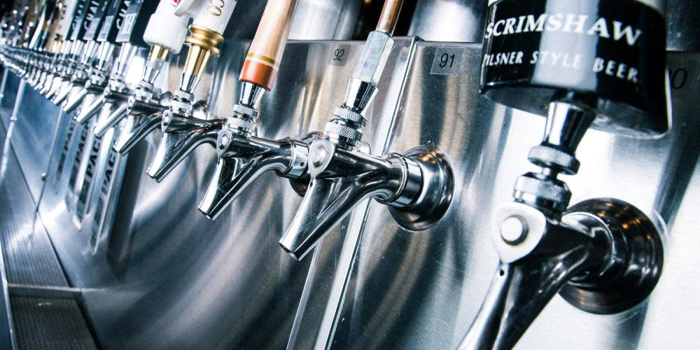 Choose from over 100 drafts of the best American craft and import beers on tap.