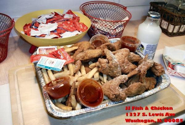 J j fish reviews menu 1327 s lewis ave waukegan 60085 for J and j fish menu