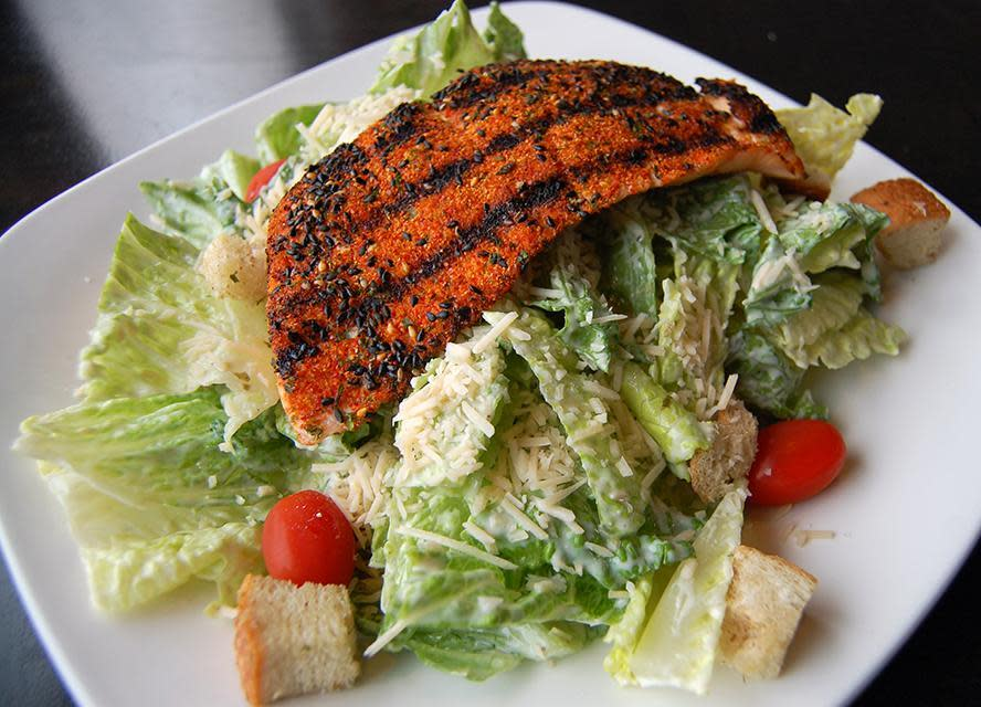 Togarashi Salmon Caesar Salad at Fat's