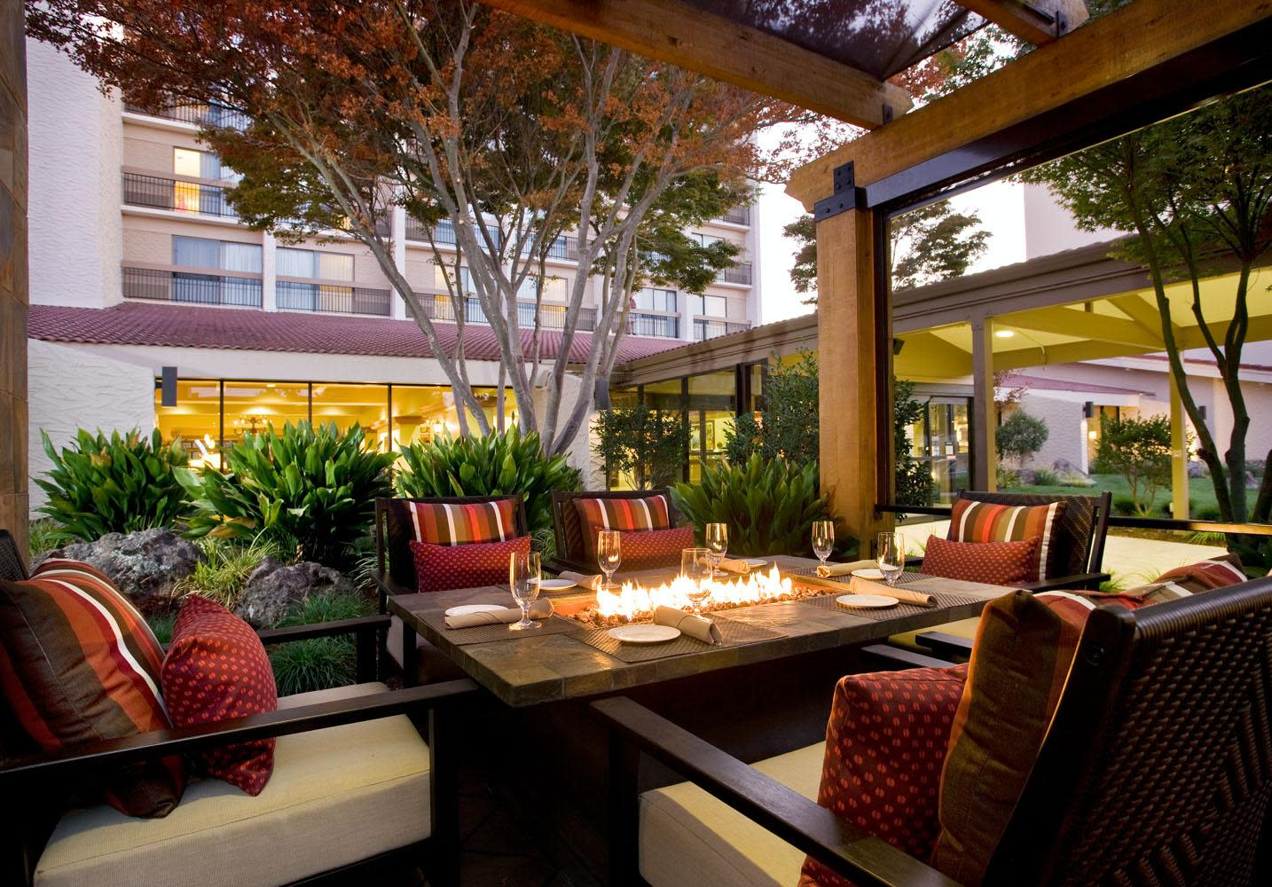 Outdoor Patio with Fire pits at Parcel 104