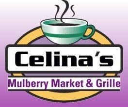 our logo at Celina's Mulberry Market and Grill