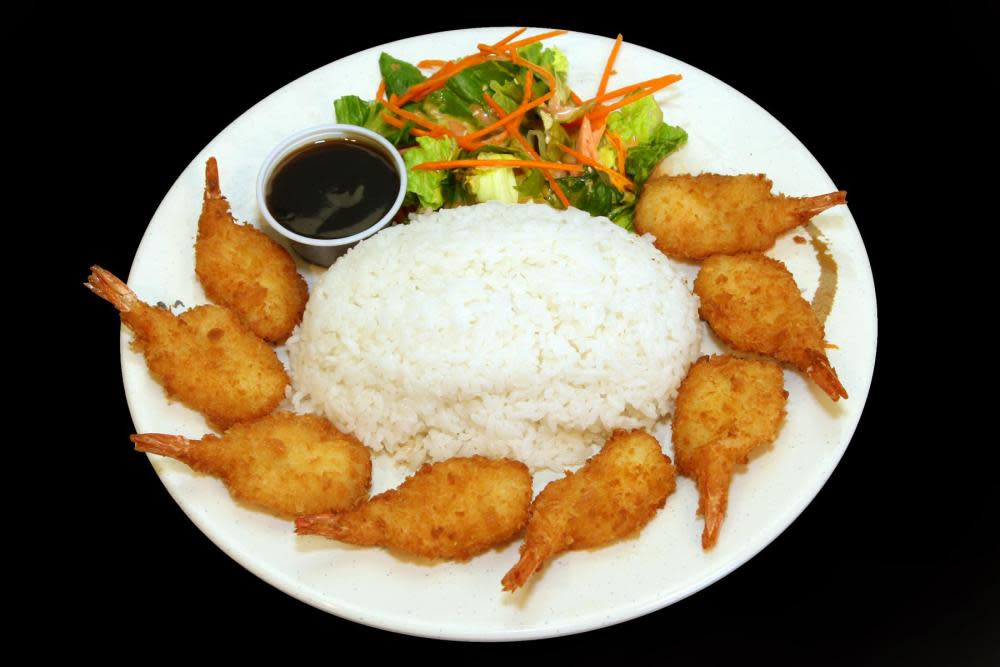 Fried Prawns Plate