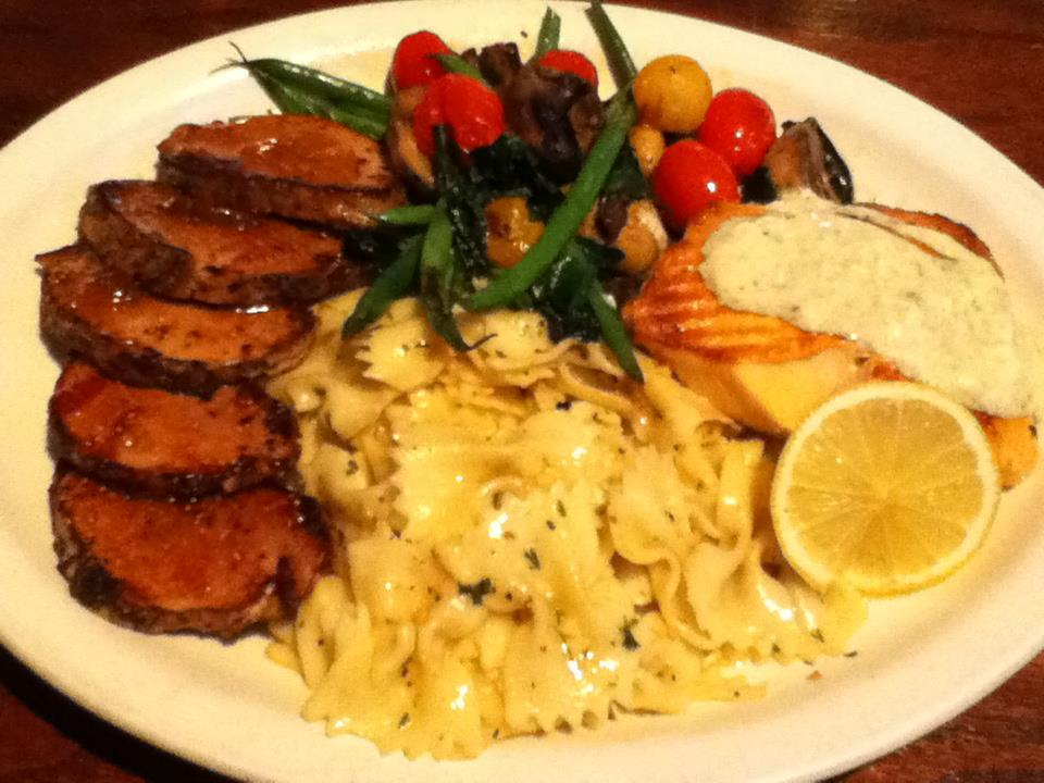 Honey peppercorn crusted pork loin medallions at Ingrid's Kitchen