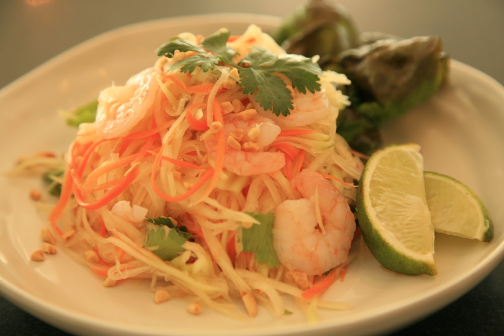 Papaya salad for Asian cuisine tulsa