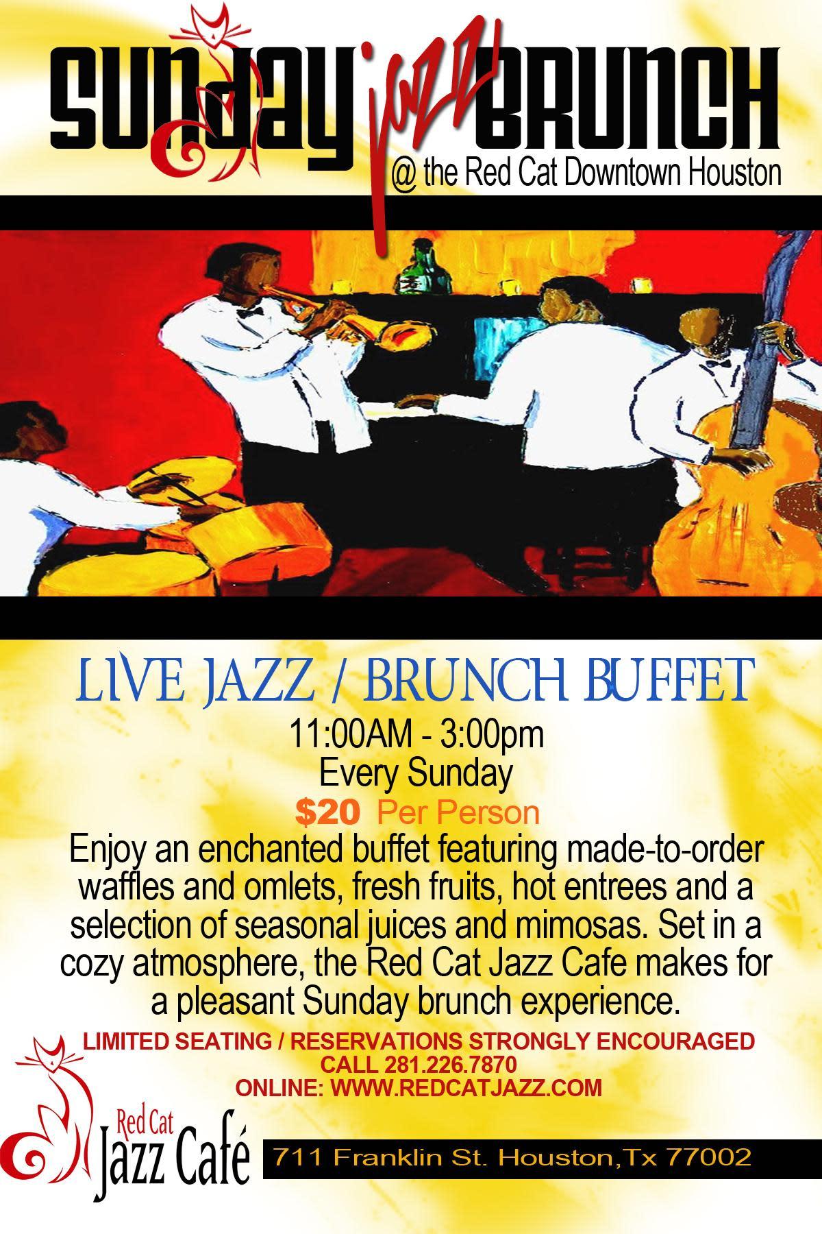 Red Jazz Cafe Houston Menu