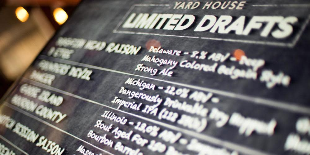 Enjoy a rotating selection of unique and complex beers from local, domestic and import brewers on the Chalkboard Series