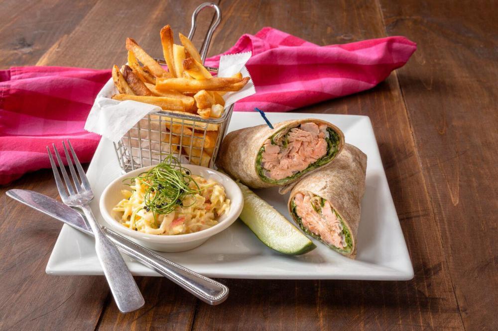 Grilled Salmon Wrap Photo