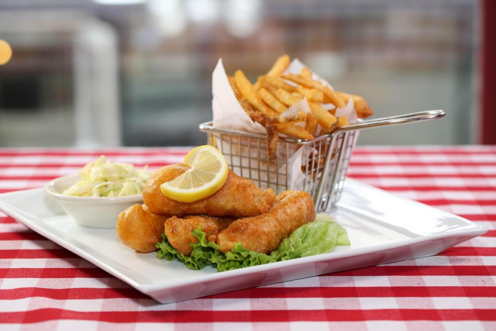 Fried Beer Battered Fish and Chips Photo