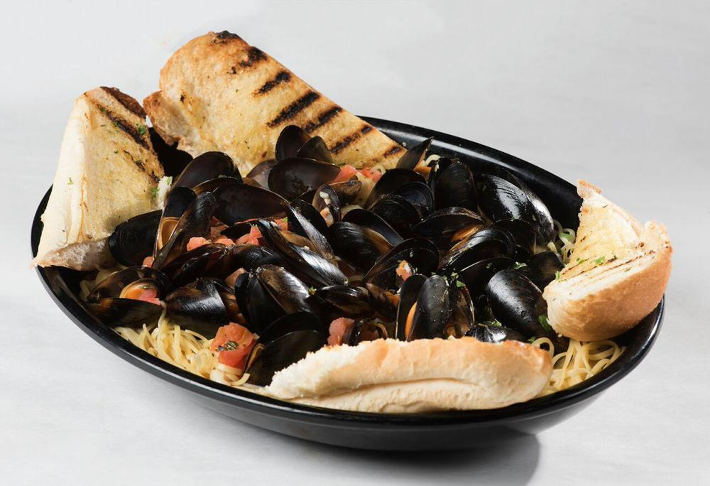PEI Mussels over Linguine Photo