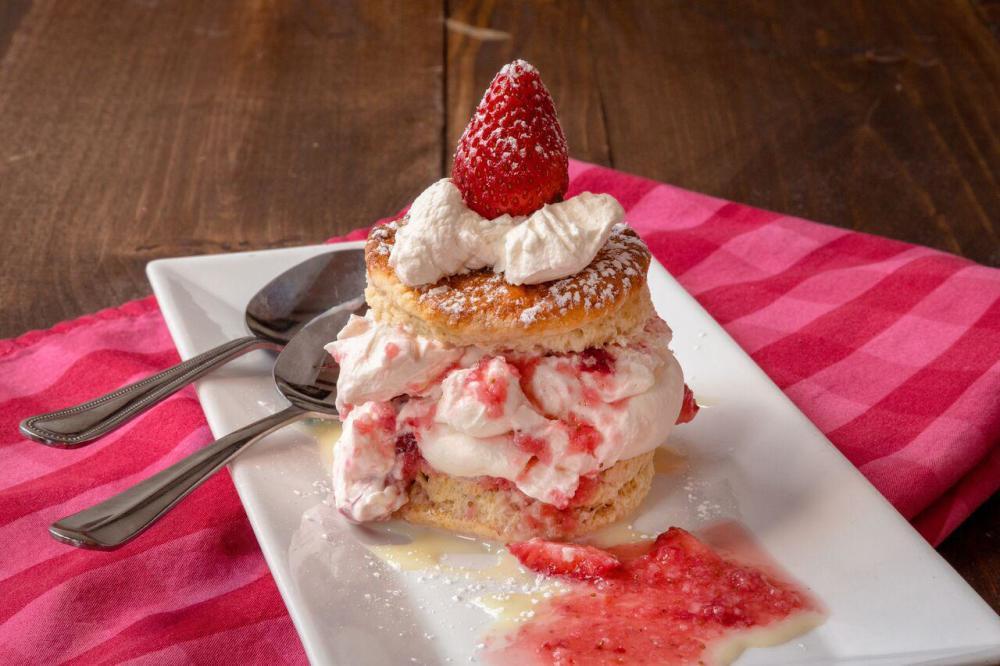 Fresh Strawberry Shortcake Photo