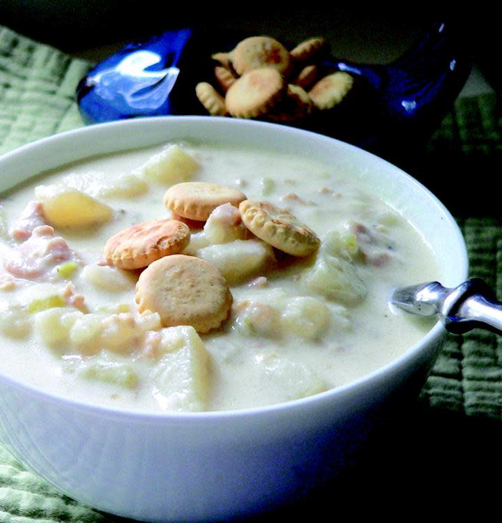 New England Clam Chowder - White Photo