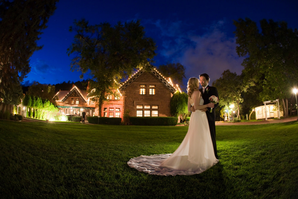 Couple on Front Lawn at Briarhurst Manor