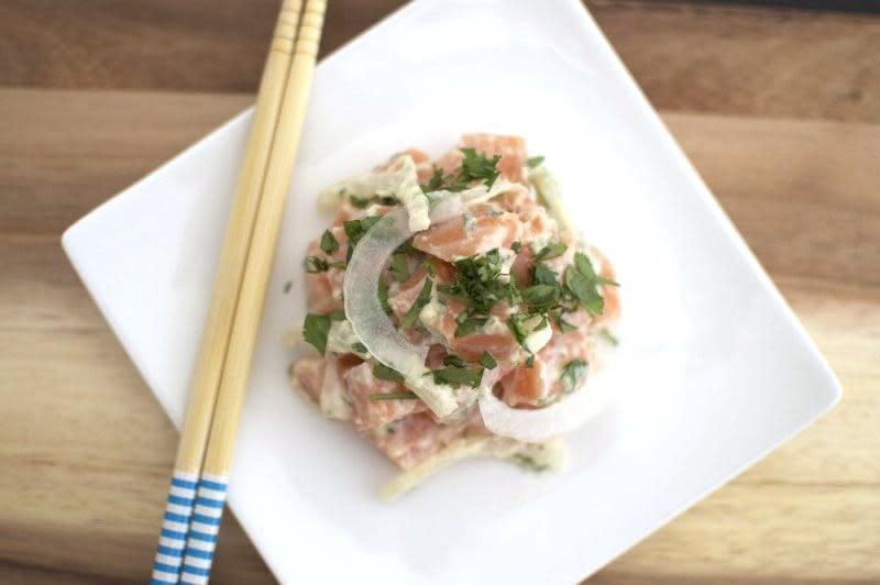 wasabi creme, cilantro, citrust zest, panko, sweet onion at Spinfish
