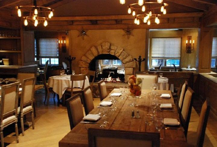 Best Fireplace Dining at Villa Piacere