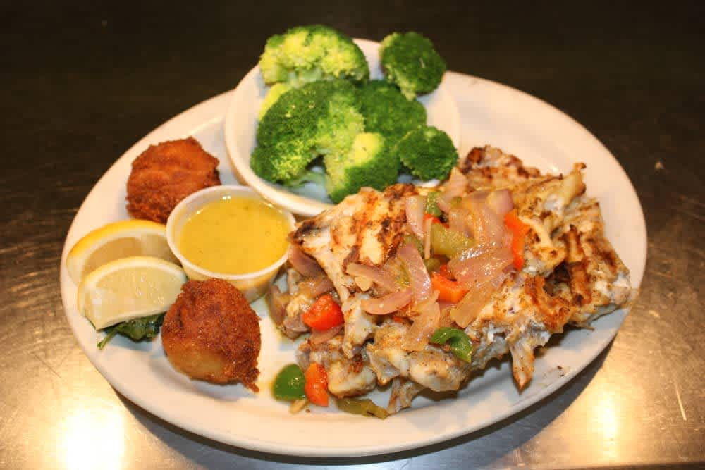 Grilled Grouper Throats at Captain's Table