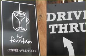 drive-thru at The Fountain Bistro & Drive-thru
