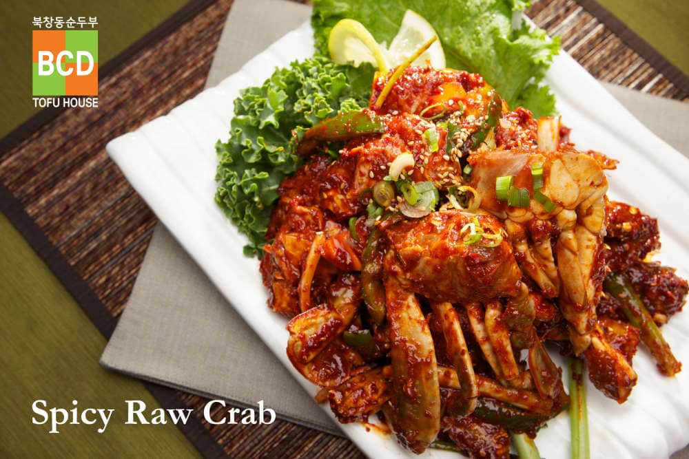 Spicy Raw Crab at BCD Tofu House