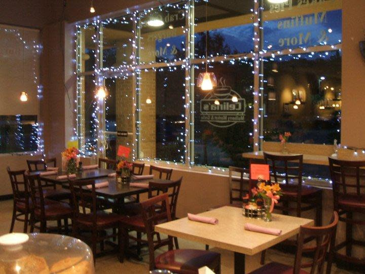 the cafe front seating at Celina's Mulberry Market and Grill