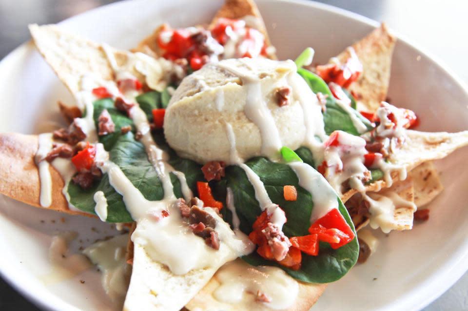 Mediterranean Nachos at Sababa Restaurant & Lounge (CLOSED)