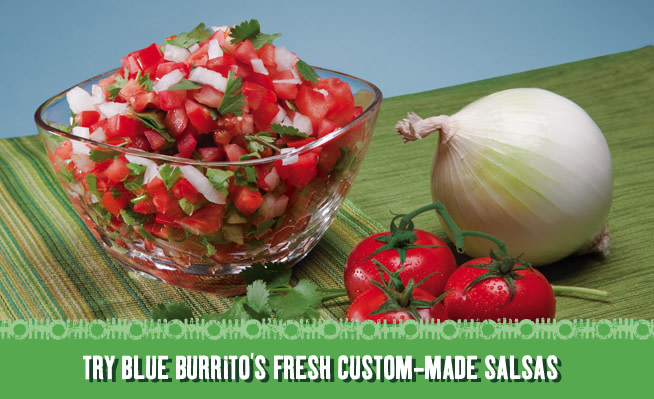 BBG Salsas at Blue Burrito Grille