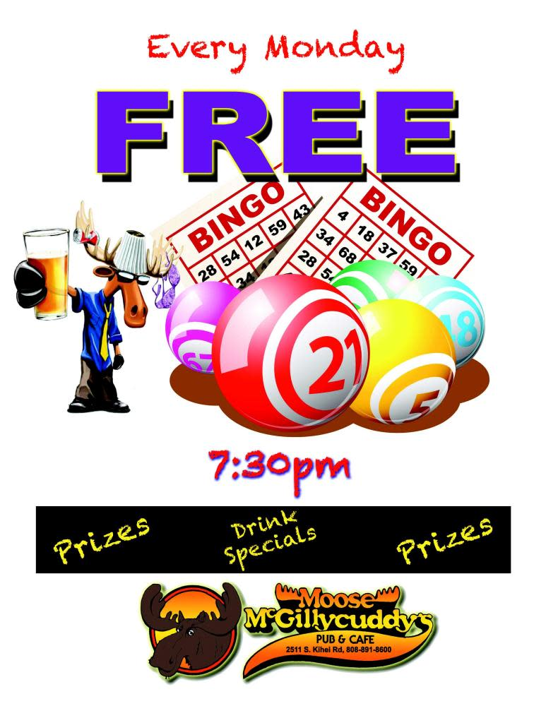 Free Bingo Mondays at Fred's Mexican Café