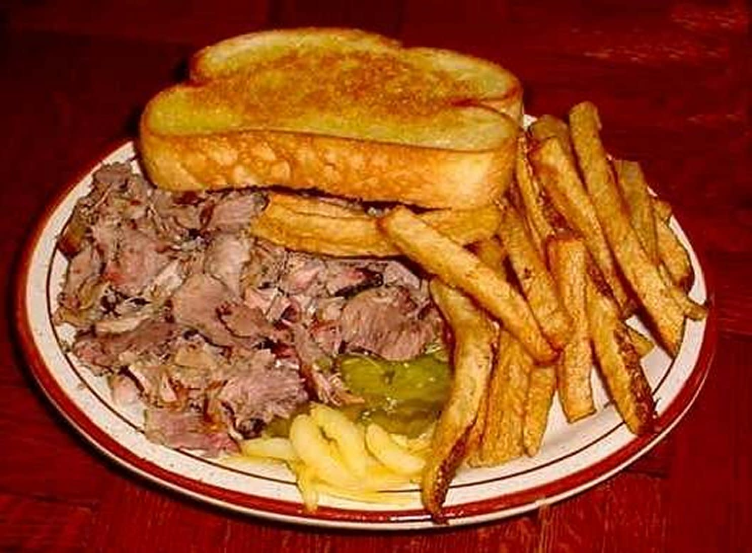 $4.99 Chopped Pork Plate at Country's Barbecue