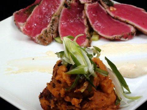 Seared Tuna at Sababa Restaurant & Lounge (CLOSED)