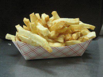 Fresh Cut French Fries at Raub's Twin Kiss