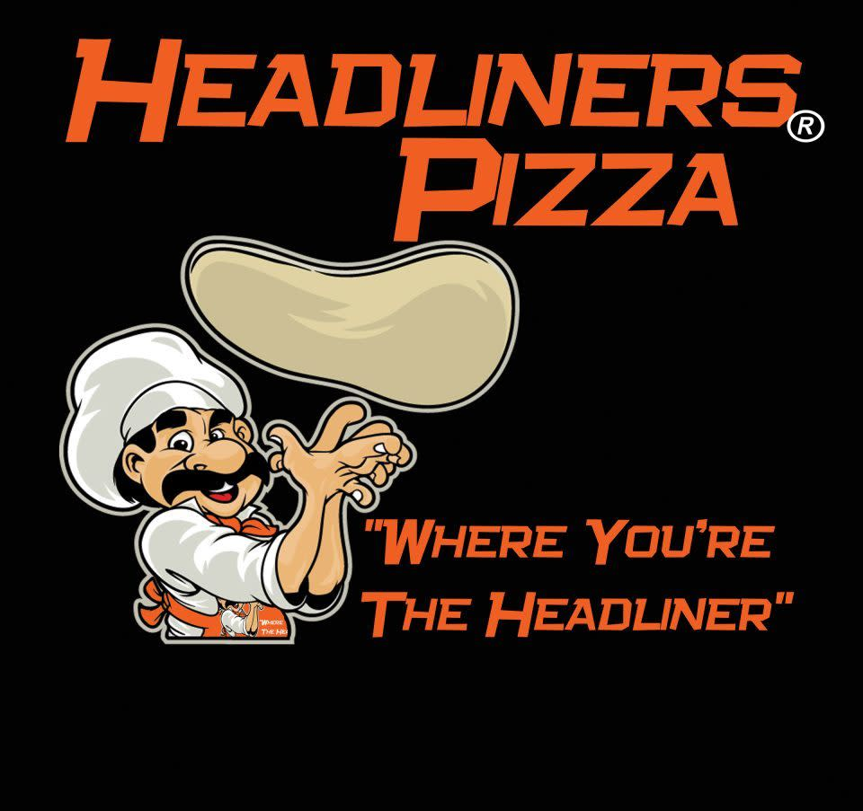 head at Headliners Pizza