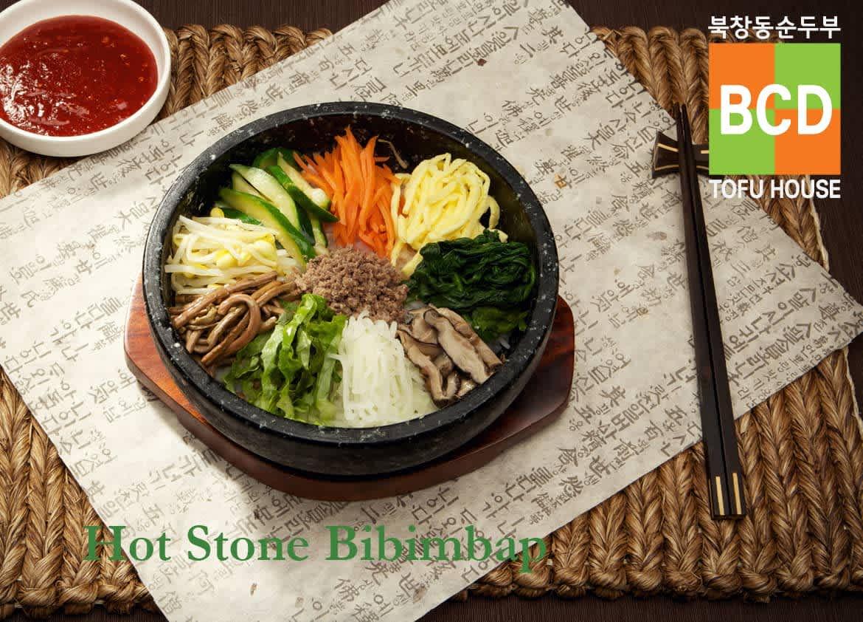 Hot Stone Bibimbap at BCD Tofu House