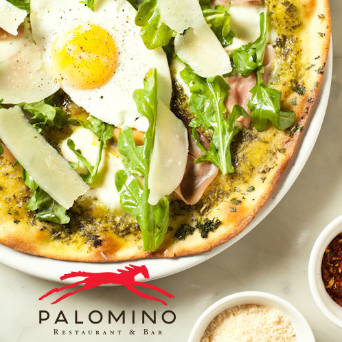 pizza at Palomino Euro Bistro