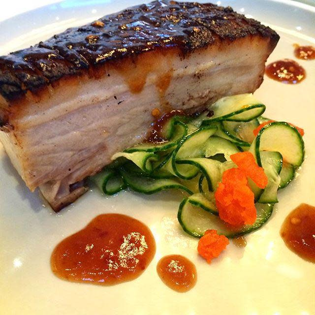 Sticky Pork Belly at One Up Restaurant & Lounge