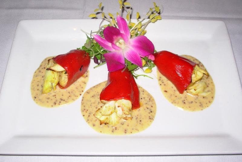 Crab Stuffed Piquillo Peppers at Cafe L'Europe