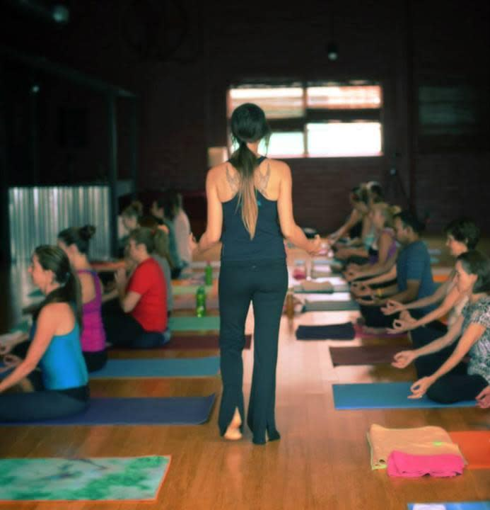 Luv to breathe.  LUV CPY at College Park Yoga