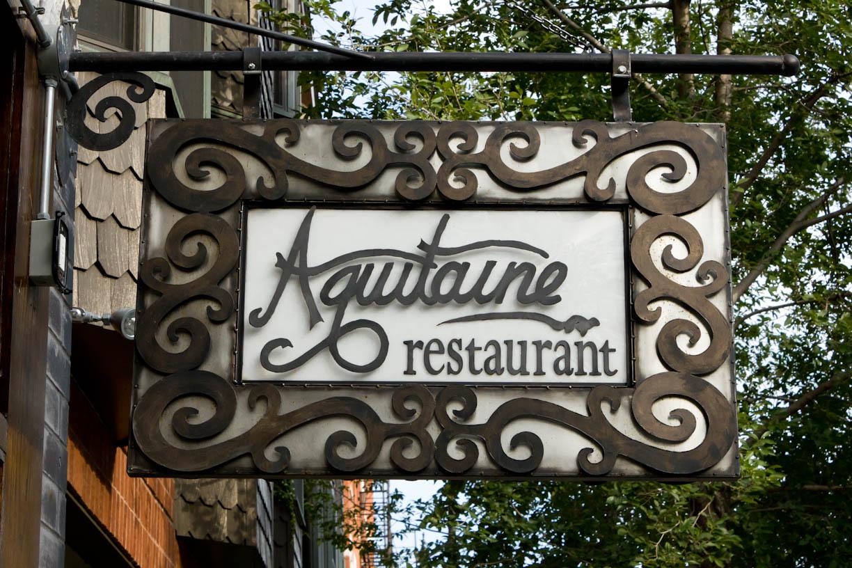 Aquitaine sign at Aquitaine