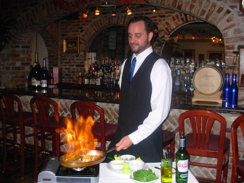 Table Side Shrimp Pernod at Cafe L'Europe