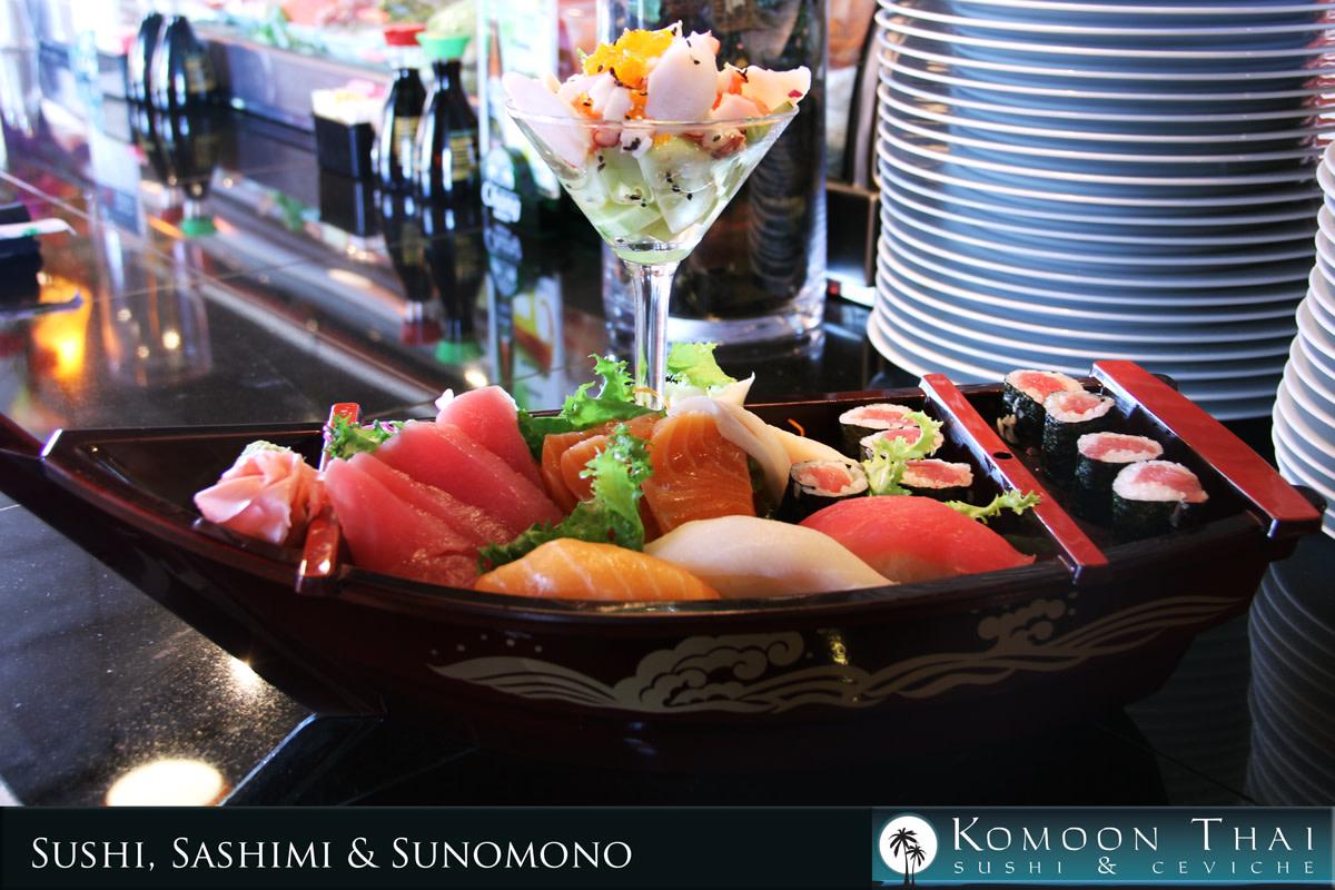 Sushi Boat at Komoon Thai Sushi & Ceviche